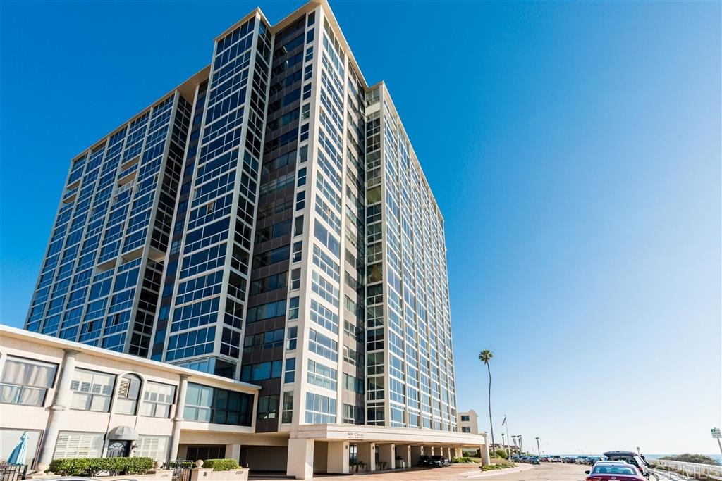 Coveted unit in the best concierge building in La Jolla. Oceanfront building, the unit has full views of the north coast and south coast. This unit and the G unit next door can be combined to make a spectacular 3700+ home. The F units have southerly views from the kitchen and second bedroom. The services in the building set the management apart from the others. This unit has the alcove in the living room. Some of the other F units do not.  Please see suppl.The space allows for a sitting area, a desk with a spectacular north shore view or personal gym equipment, if desired. 5 elevators each to two units, plus a service elevator, adds to the personal, luxury feeling residents who live in the building enjoy. The valet service adds to that luxurious feeling. $100 parking fee for the first car is added to the monthly maintenance fee. If parking an additional car is necessary and space is available, there will be a charge of $125. Dining room chandelier does not convey. It is owned by the tenant. Lease expires the end of February.