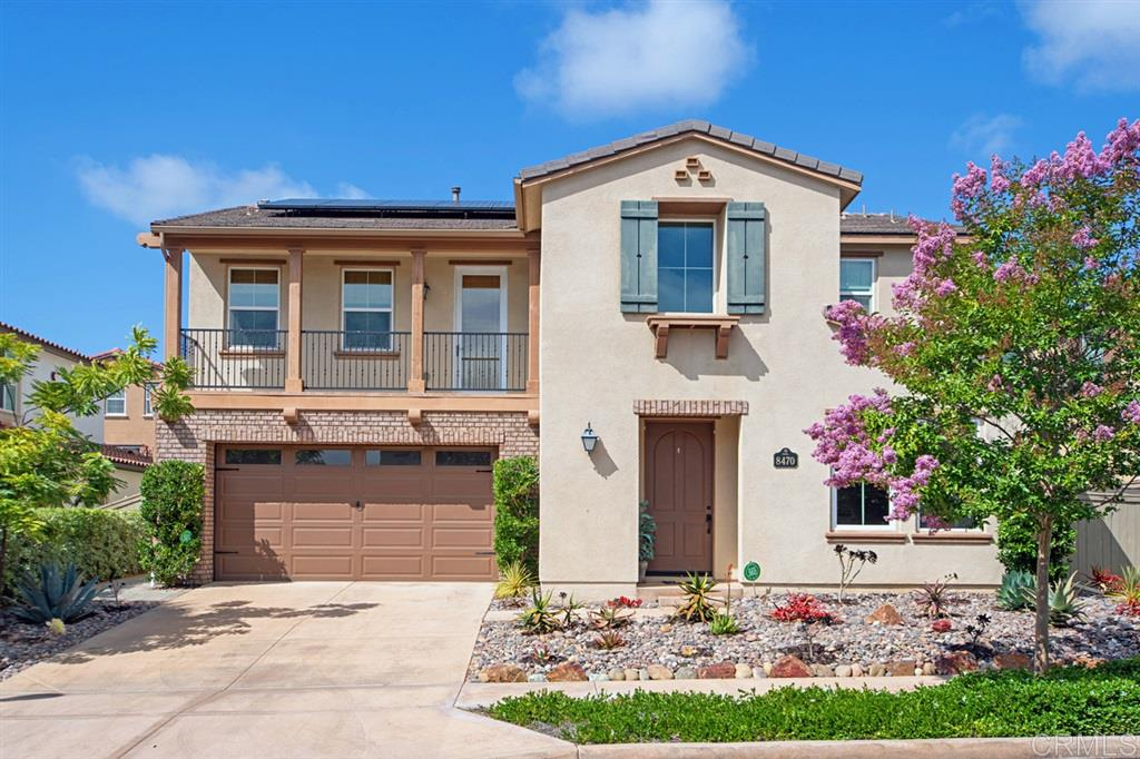 Range $1,369,000 - $1,389,000 - Beautifully upgraded Del Sur Home is an entertainer's dream! Owned Solar, water filtration system, tankless waterheater make this open concept Valencia home w/ wood & tile floors comfortable & efficient, 5 beds & bonus loft w/ 3.5 baths. Full guest suite on the mainfloor w/ensuite bathroom & walk-in closet offers a great place for guests or parents. Enjoy the incredible outdoor living area w/built-in bar area, pergola, pavers, turf lawn & outdoor Del Sur Room w/fireplace.Award-winning Poway Unified Schools, walkable community pools and parks with neighborhood events are perfect for your growing family.