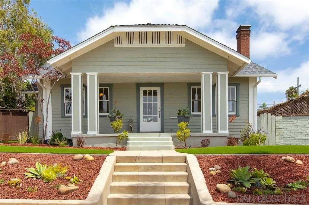 Offered at $1,289,000-$1,339,000. Stunning, iconic 1924 Craftsman located in the North Park Dryden Historic District. This charming, turn-key home is full of character, lots of natural light & features many upgrades, hardwood floors, a huge master suite, custom walk in closet, AC & a 2 car garage. Entertain your guests in your beautifully landscaped private backyard. Plenty of space for an ADU unit, dog run & garden. Don't miss out on this incredible opportunity to live the San Diego lifestyle!This stunning, turn-key iconic 1924 Craftsman is located in the North Park Dryden Historic District. Features include beautiful hardwood floors, lots of natural light, original built ins, fireplace, spacious family & living rooms for entertaining, new carpet and a two car garage. Unwind in your private master suite located on the second floor with a spacious, beautiful custom walk in closet, upgraded bathroom with dual marble vanities, separate shower and soaking tub. Enjoy a glass of wine in your private, secluded and newly landscaped backyard. Lots of space for an ADU unit, garden, dog run and hot tub. Potential for Mills Act designation. Sewer line replaced, new plumbing, electrical and energy efficient windows. Forbes Magazine named North Park as one of America's best hipster neighborhoods. This home is located in the best location, just steps to Morley Field, Bird Park, University Ave and 30th St. Enjoy one of the many fabulous restaurants like Breakfast Republic and Underbelly. San Diego is famous for its beer culture and North Park is no exception, so grab a brew at North Park Beer Company, Modern Times, or Thorn St. Brewing Company. Just a few blocks from the weekly Farmer's Market, enjoy a concert at the North Park Observatory and visit the new North Park Mini Park. Stroll down Ray Street Arts District, which is one of the most culturally rich districts in all of San Diego. Located minutes from the world famous Balboa Park, San Diego Zoo, miles of beautiful beaches and Petco Park.