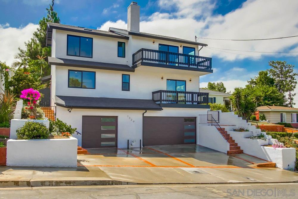 Huge price reduction! Seller will entertain offers between $1,350,000-$1,450,000. A beautiful, completely remodeled house, Stunning views of the bay, point loma and sea world from every bedroom! This home is 2046 sq ft. With 4 bedrooms and 3 baths and a rare 3 car garage. Completely redesigned floor plan and remodeled by a contemporary designer. It offers an open floor plan in the kitchen and living room area, with an opening to a large backyard deck, a waterfall pond, and mature trees. It's a must see!The house's floor plan has changed to 4 bed/3bath now . All changes are permitted.