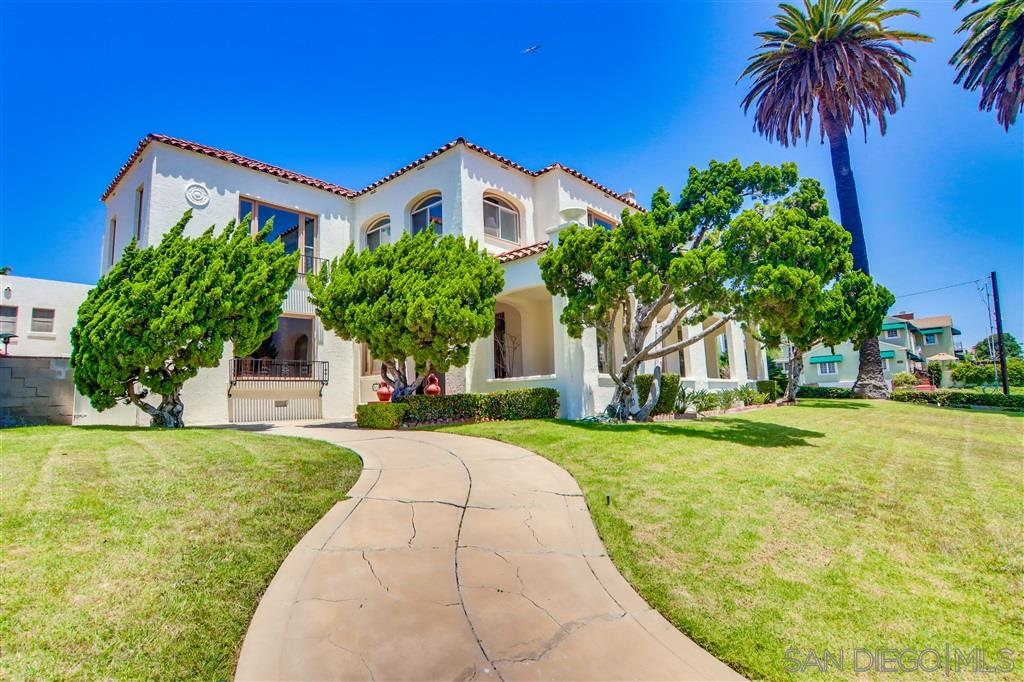 Once in a lifetime very rare opportunity- built in 1925, this home has been owned by the same family for 78+ years. Stunning original features have been maintained throughout time. This quintessential 7,000 sqft 5 bedroom 6 bath home has classic architecture and panoramic views of the San Diego bay and downtown. Positioned above Rosecrans, the estate like grounds have incredible potential for indoor/outdoor living, entertaining, and the ability to hold exquisite events. Great candidate for Mills Act.