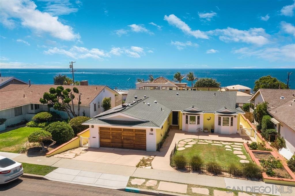 Ocean views, surf, and sunsets are yours from this remodeled single level beach house just steps to the Pacific and Sunset Cliffs Natural Park. Spacious and light-filled, with a huge open floorplan that leads out to the sparkling pool & multiple view decks. Upgrades include solar panels, a chef's dream kitchen with a 6-burner Viking range & griddle, full size refrigerator/freezer, hardwood floors, dual pane windows, skylights & more. You'll enjoy summer all year long and wonderful neighbors. Welcome Home!Enjoy the sight, sound, and surf! Add a second story for a spectacular view!  Great value to live by the ocean.