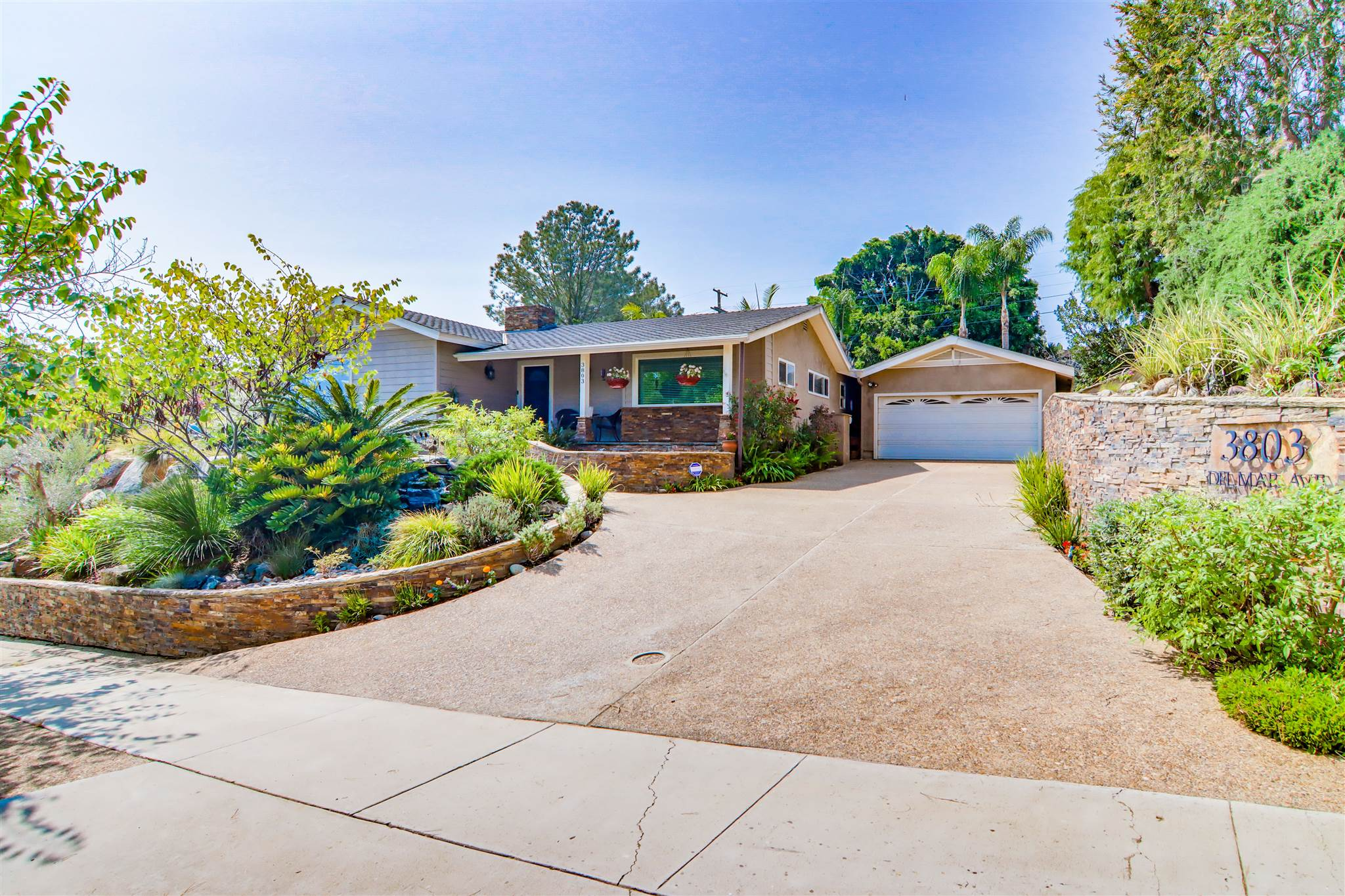 Pride of Ownership!!! Secluded 3+BR, 3.5 BA Freetridge single level home with new owned solar system. As you walk up to the entry you are welcomed by a freshwater pond with Koi fish and soothing waterfalls. Welcome to your open concept home with dbl fireplace and large chef's kitchen with SS appliances, spacious Mahogany cabinets and dual pane windows throughout. The home boasts inside/outside living at its finest with SS BBQ close by, a beautiful pool with Baja Shelf and outdoor shower for all to enjoy.OPPORTUNITY KNOCKS!!! First time on the market in almost 20 years. This is an excellent location and close to everything! Literally minutes from the San Diego International Airport and downtown, you can walk to Sunset Cliffs, the San Diego Bay, Point Loma Village, the historic La Playa Trail and many world known Yacht Clubs. Close to many grocery stores, PL Little League, concerts in The Park and many great public schools, the children won't have to walk far due to the central location. Incredible features including new solar, an oasis like pool and outdoor area, stainless steal BBQ, double fireplace, soft water throughout, and a spacious walk-in closet in the master bed.