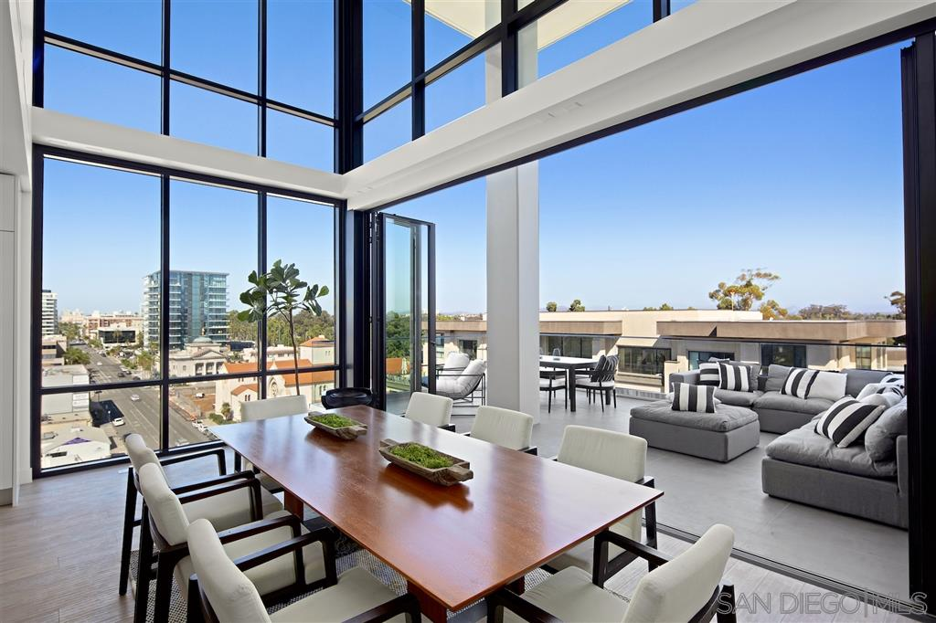 Stunning, two-story, penthouse atop the newest high-rise development in Bankers Hill/Downtown San Diego. PH unit 901 boasts a sleek, modern interior with high end finishes (incl MIELE kitchen appliances) throughout. The developer went above and beyond by building out 10 foot ceilings in each home, and incorporating NANAWALL sliders, which open out to the oversized balconies. 41 West is perfectly positioned in Bankers Hill, providing panoramic views of Balboa Park, the San Diego Bay, and city skyline.
