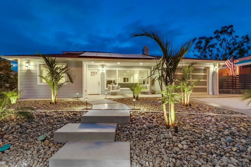 Enjoy incredible views from this 1/4 acre canyon lot with permitted addition (1995 sq.ft. main house) and 323 sq.ft ADU! Completely updated, owned solar (26 panels), remodeled kitchen w/ quartz counters, stainless appliances & stylish cabinetry, brand new wraparound deck, fireplace & views from almost every room! Master retreat with spa-like bathroom & large walk in closet, recessed lighting, epoxy coated garage & private yet convenient location in the heart of North Park/South Park! This is a must see!