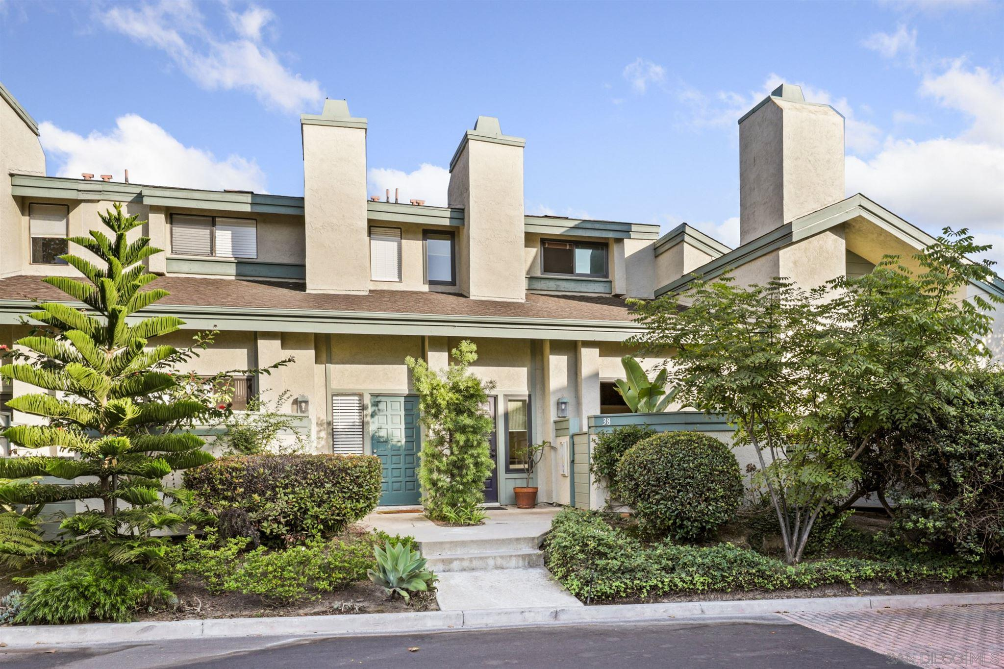 Well maintained tri-level townhome with an attached two-car garage located within the highly desirable community of Eastbluff in La Jolla.  This amazing property features a stellar location west of the 5, with neutral paint and trim, a cozy fireplace, and durable laminate flooring throughout.  High ceiling and newer dual pane windows bask the home in an abundance of natural light.A beautifully appointed kitchen boasting quartz countertops with a custom tile backsplash, recessed lighting, stainless steel appliances, and crisp white cabinetry.  There is a bedroom and bath on the main level.  The remaining bedrooms are upstairs including the spacious primary suite offering a large closet and its own en-suite bathroom.  Outdoor living has been extended to a private patio perfect for taking in the gentle ocean breeze.  Just steps away from Villa La Jolla Park.  Great community amenities include two sparkling pools and a recently remodeled clubhouse.  Conveniently located, just minutes away from The Village of La Jolla, shopping, dining, great schools, the Ocean, Interstate 5, plus so much more.  Don't let this opportunity pass you by!