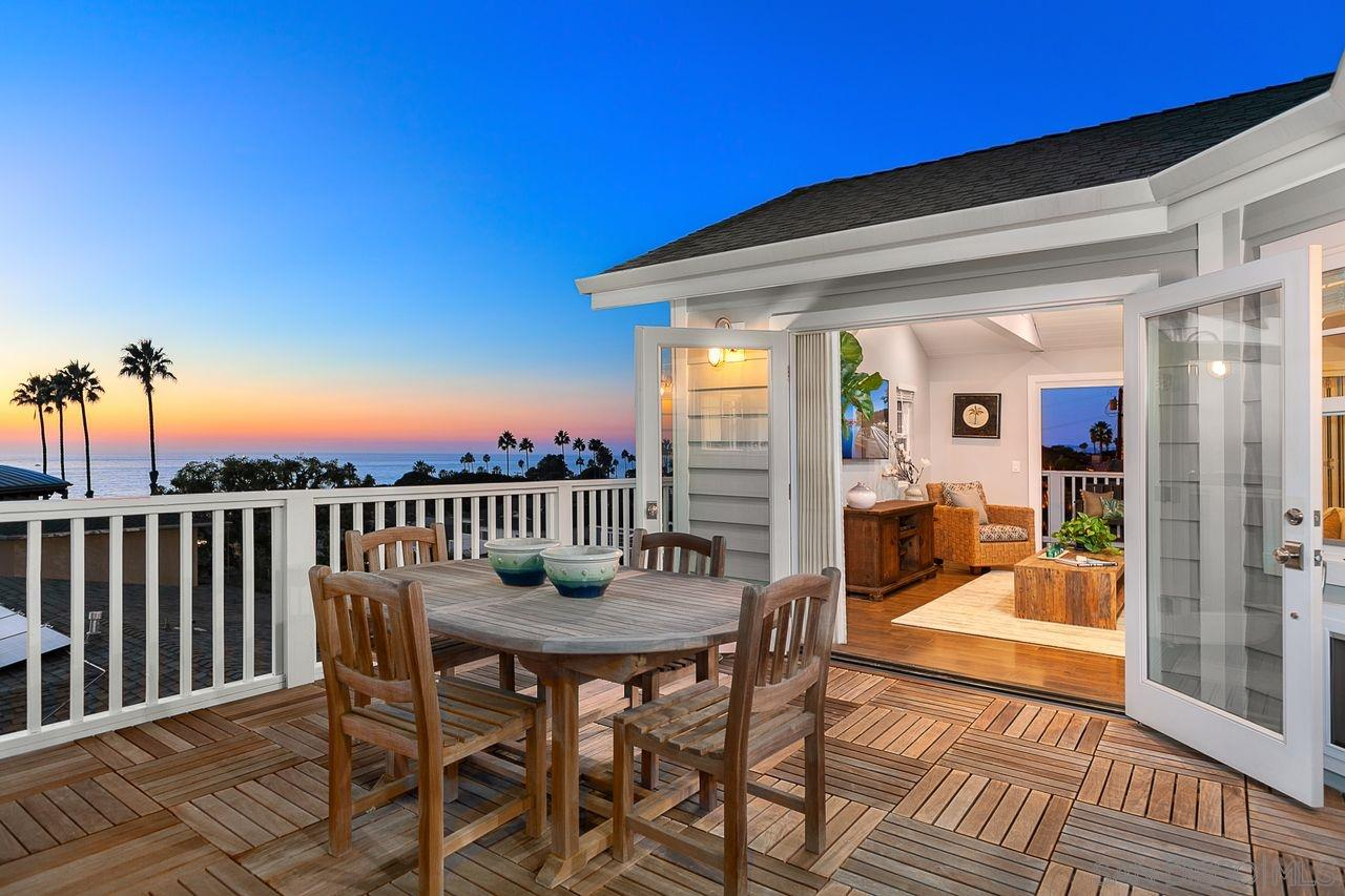 "Located in SUNSET CLIFFS with PANORAMIC OCEAN VIEWS.  Traditional Style Home w/ a Light, Bright & Airy ""Reverse"" Open Floor Plan.  Construction Completed in 2018. 5 Bedrooms & 4.5 Baths w/ a 1 Bedroom/1 Bathroom Accessory Dwelling Unit (ADU).  LaCantina Doors Leading to Multiple Decks Enhancing the indoor/outdoor Experience.  Gourmet Kitchen w/ High-End SS Appliances.  Spa-Like MBR Suite. Lg. 3 Car Garage w/Alley Access.  Large Flat Lot.  Owned Solar System. Excellent Curb Appeal. True Pride of Ownership."