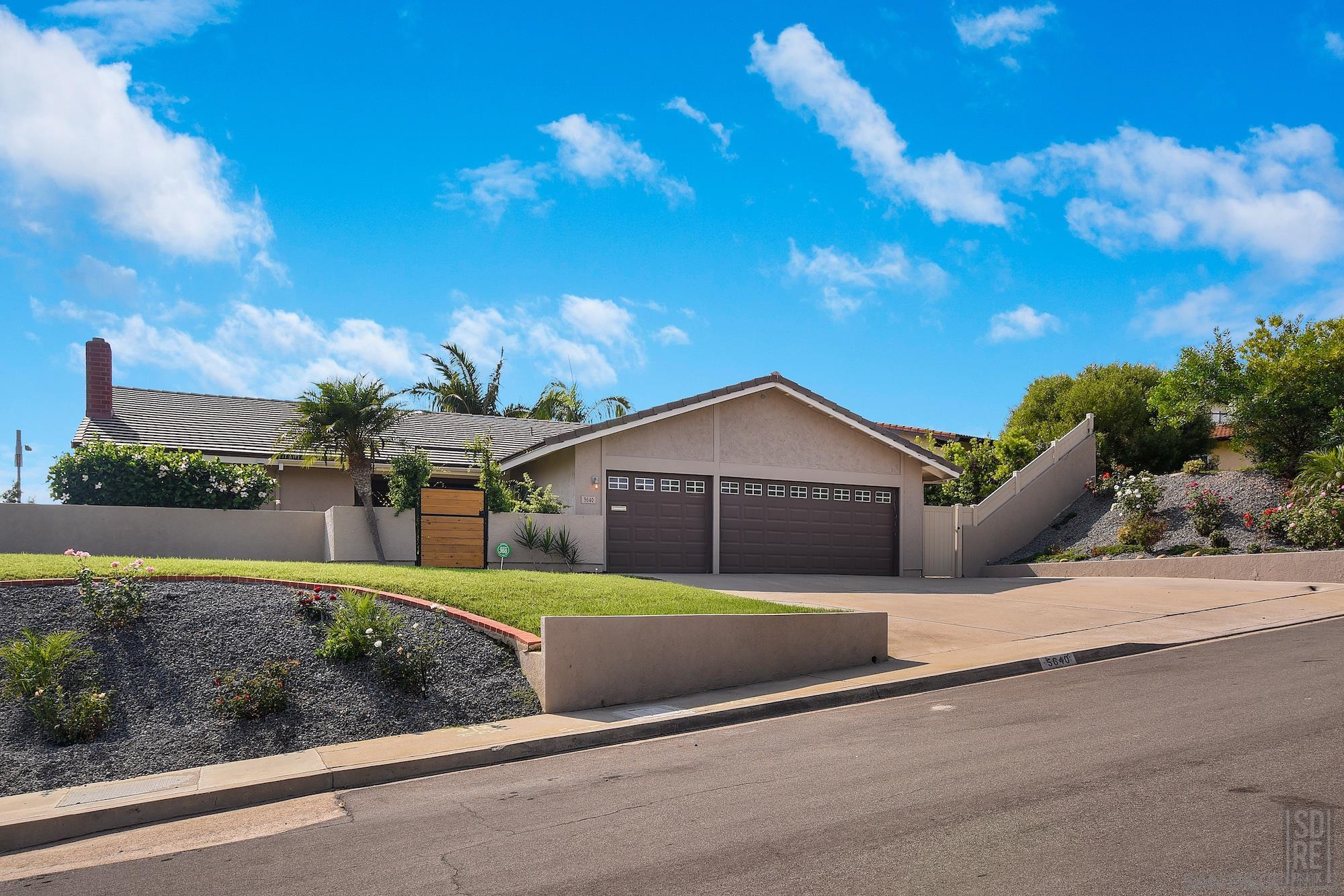 Four bedroom La Jolla Alta home with three car garage on an 11,800 square foot site. This home has been nicely updated / maintained. Some of the newer items include; roof, kitchen, baths and heating - cooling system
