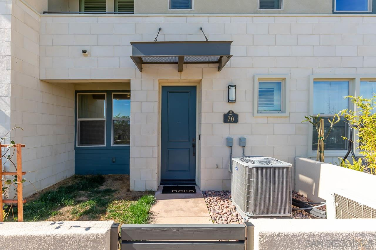 """This almost new 3BR+Den townhome by Lennar is loaded with everything today's buyer wants: open concept kitchen with stainless steel appliances and quartz counters, tons of cabinet space, custom paint & window coverings, laminate """"wood plank"""" flooring, surround sound in living room and a home security system. The """"Amazon Smart Home"""" includes Alexa, smart locks, Ring doorbell and WIFI thermostat. All walkable to shops, restaurants, schools, hiking trails and all of the parks and pools Del Sur has to offer!"""