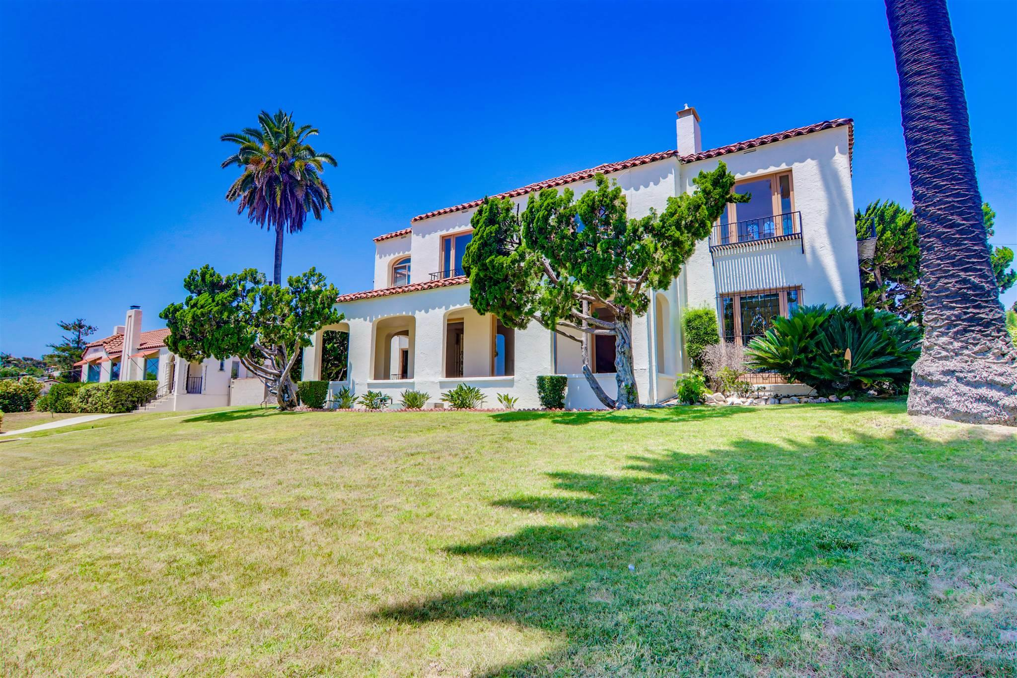 Once in a lifetime very rare opportunity! Built in 1925, this home has been owned by the same family for 75+ years. Stunning original features have been maintained throughout time. This quintessential 7,000 s/f 5BR 6BA home has classic arch. and panoramic views of the SD bay and downtown. Positioned above Rosecrans, the estate like grounds have incredible potential for indoor/outdoor living/entertaining, and the ability to hold exquisite events. Also, Great candidate for Mills Act, & next in line for QHP.This property is next in line for the Quieter Home Program (The Airport Authority in conjunction with the port replace windows, doors where applicable, add furnaces, air conditioning units and at times upgrade electrical at no cost to the Owner. If any questions, Please ask Listing Agent.