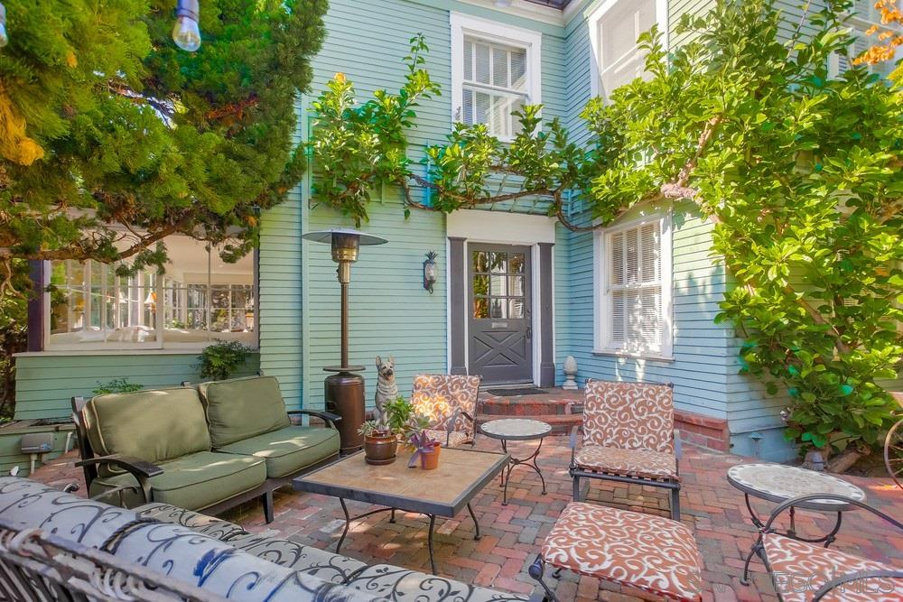 Known as the Kline house; Lovely 6 bed, 6 bath La Jolla Village gem filled with character and charm. Just 1 block to the sand/surf and short stroll to shops and restaurants in the Village. Beautifully upgraded eat-in kitchen, stainless appliances, soapstone counters. Rich hardwood flooring, 4 fireplaces, separate dining room and butler's pantry! Sparkling salt water pool with hot tub, 2 Balconies and an expansive patio with tumbled brick pavers perfect for outdoor living and entertaining.  See Supplement.Possibilities abound in this expansive estate on a 10,290 Sq ft lot. Currently configured as a single family dwelling however, zoning is R-3 multifamily and the structure was formerly configured as a duplex that could easily be re-converted. The property is operated as a short term vacation rental with an average rental rate of $1055 per night. Long term rental rate of $13,500 per month. This beautiful home delivers a tasteful blend of classic finishes and modern upgrades! This historic estate may also be a candidate for Mills Act tax benefit.