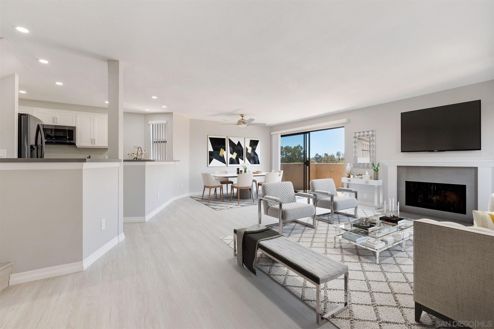 """Beautiful Turnkey End Unit Townhome with Canyon Views @ Woodlands South! Two South-Facing Balconies offer both sunrises and sunsets. Attached Oversized Garage with Built-In Cabinets & Workbench. With only 1 shared wall, this unit is located 1 building back from Via Sonoma, giving you privacy, easy exit and plenty of off-street parking. This is the Largest Floorplan (Plan 5 Pelican) with 2 bedrooms plus Study/Master Retreat and 2 1/2 baths. The main floor offers an open floorplan – Large Kitchen with Bar Area, Wet Bar, Dining & Living Rooms, Fireplace, Oversized Balcony and a half-bath. The 2nd floor features: New Railings, the Master Bedroom, an additional Study/Retreat, the 2nd Bedroom and 2 full bathrooms. (SEE SUPPLEMENT)...Kitchen features all Black Stainless Steel Samsung Appliances (Refrigerator with Icemaker/Water Dispenser included), Mission White Cabinets with Brushed Nickel Handles and Soft Close Drawers, Pantry Space, Platinum Gray Quartz Countertops, Kohler Faucet & Stainless Steel Single Bowl Sink and Space for Barstools.  Dining Room has a Casablanca Stealth 54"""" Nickel Fan/Light Fixture with wall control and Sliding Glass Doors to Oversized Balcony. Living Room has a wood burning fireplace that's refaced with matching quartz. The Master offers Vaulted Ceilings, a 2nd Balcony, 3 Mirrored Closet Doors with Built-In Shelves, Dual Sinks and a separate Shower/Toilet Area; 2nd Bedroom offers an en-suite bathroom with Shower/Tub, Mirrored Closet Doors & Built-In Shelves.  All bathrooms feature Broan-Nutone Chroma Comfort Light/Fan with 24 color selections (Energy Star) and Kohler One-Piece Toilets. The two full baths also have a New Tub with Slow Closing Glass Doors. The Master Bathroom has dual Kohler Sinks. The attached direct entrance 2-car oversized garage features built-in cabinets, workbench, laundry hookups with sink, storage space & newer Water Heater. Complete Remodel includes Waterproof Commercial Grade Laminate flooring throughout (except for the 2"""