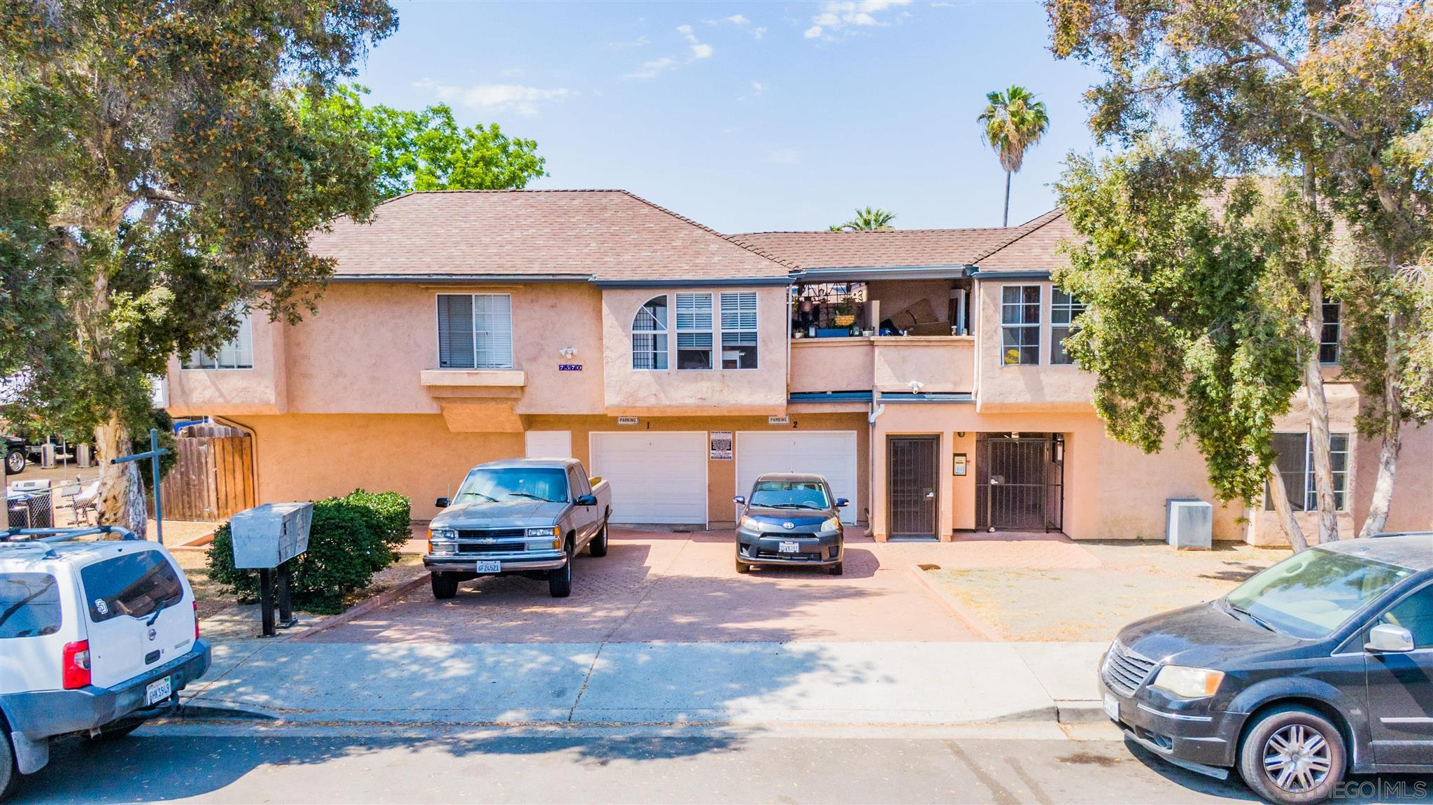 7570 Church Street is a large 17-unit apartment building in Lemon Grove featuring 11 spacious 2 bed / 2 bath units approximately 820 square feet and 6 large 3 bed / 2 bath units averaging 1,020 square feet. The two-story 14,654 square foot structure built in 1987 sits on a 27,007 square foot lot with 6 garages, 25 parking spaces, and 8 storage spaces. Several units feature large patios. There is an option to assume the current Chase financing. This investment provides future upside and is located on a quiet residential street with easy access to shopping, business, and freeways.