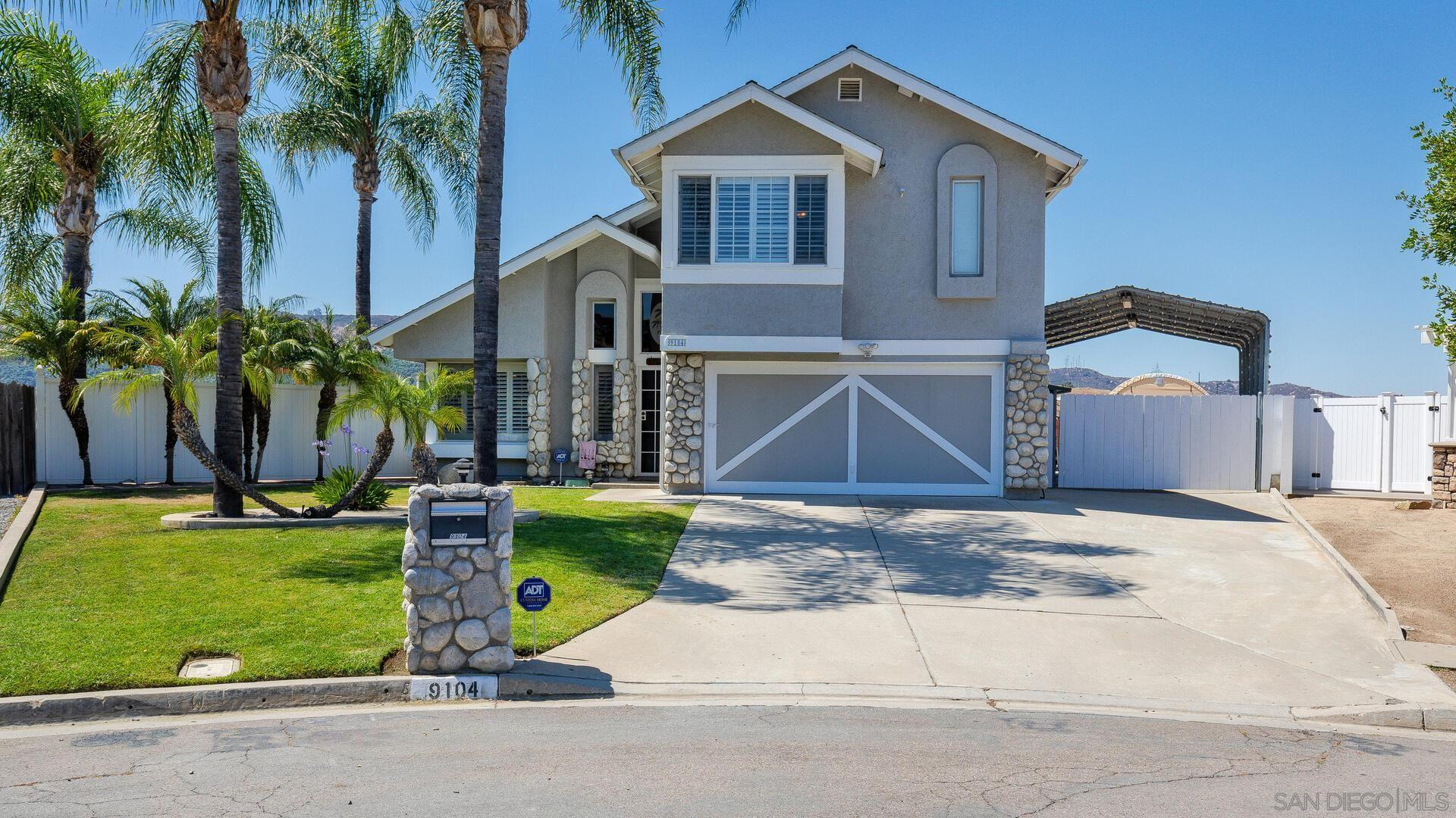 Welcome to 9104 Vista Jennings circle. If you are looking for a home that is turnkey and has been meticulously maintained, then this is it. From top to bottom, this beautiful 4bd, 2.5 bth, 1,973 sqft, two story home has been lovingly cared for and it shows from the second you walk in the front door. Perfectly placed at the top of a quiet cul de sac with a large lot and plenty of covered RV parking for all of your toys, this home is perfect for any family. Also featuring beautiful engineered hardwood and tile flooring in all the right places, vaulted ceilings that welcome you in as you enter the main living / dining room combo, separate family room with breakfast area and beautiful fireplace, stunning updated kitchen w/ granite counter tops and stainless steel appliances, recently update 1/2 bath, large master suite w/ separate shower and jetted tub, a private balcony off of the spare bedroom over looks the sparkling saltwater pool /spa and allows you to enjoy the surrounding mountain views, outside bar area w/ wood fire pizza oven that is perfect for entertaining family and friends, Solar pool heater keeps the pool at the perfect temperature, full house solar system that is set up on a fixed power purchase agreement at only 15 cent per kh., large enclosed canvas car shed and even more. As you can see this home has it all and is ready for a new family to enjoy.Welcome to 9104 Vista Jennings circle. If you are looking for a home that is turnkey and has been meticulously maintained, then this is it. From top to bottom, this beautiful 4bd, 2.5 bth, 1,973 sqft, two story home has been lovingly cared for and it shows from the second you walk in the front door. Perfectly placed at the top of a quiet cul de sac with a large lot and plenty of covered RV parking for all of your toys, this home is perfect for any family. Also featuring beautiful engineered hardwood and tile flooring in all the right places, vaulted ceilings that welcome you in as you enter the main living / di